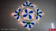 Rangoli is an art form, originating in the Indian subcontinent, in which patterns are created on the floor in living rooms or courtyards using materials such. Indian Rangoli Designs, Rangoli Designs Latest, Simple Rangoli Designs Images, Latest Rangoli, Rangoli Designs Flower, Rangoli Border Designs, Colorful Rangoli Designs, Rangoli Ideas, Beautiful Rangoli Designs