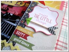 create your everyday: { Scrapbook Circle August Kit–True Stories } LOVE this idea for adding washi to a toothpick to make an arrow!