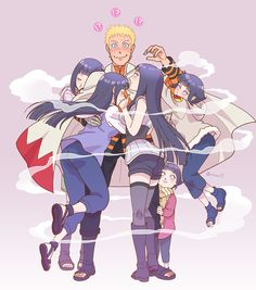 Naruto en un Maravilloso harem de Hinatas