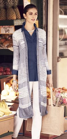 The Long Cardigan: Outdoor comfy. Office appropriate