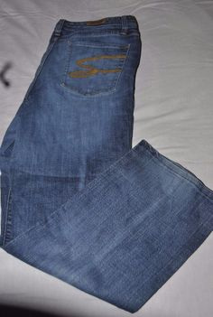 eab31caf2bd75 Bootcut Faded Medium Wash Denim Blue Jeans Womens Plus Size 18