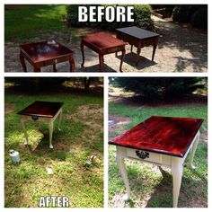 Major props to Kyle for the stain! The newest and my favorite :) #diy #shabbychic