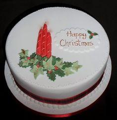 Christmas Cakes - Centrepiece Cake Designs Isle of Wight Fondant Christmas Cake, Christmas Themed Cake, Christmas Cake Designs, Christmas Cake Decorations, Christmas Cupcakes, Holiday Cakes, Easy Christmas Treats, Christmas Bread, Christmas Baking