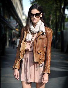 blush leather jacket