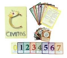 civitas card game components -- learn how government works through a game!