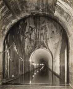 The lake and land tunnel which runs beneath Chicago Avenue, 1935 (Chicago Pin of the Day, 8/4/2015).