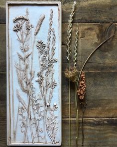 New Ideas For Flowers Wild Nature Grass Plaster Crafts, Plaster Art, Botanical Wall Art, Botanical Prints, Gesso Art, Wild Nature, Art Nature, Flower Tattoo Drawings, Enjoy The Little Things