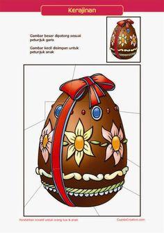 kerajinan gunting tempel PAUD (balita/TK) : buat sendiri puzzle telur paskah