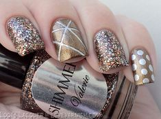 Copper nail art by Shimmer Polish #nail #nails #nailart #unha #unhas #unhasdecoradas