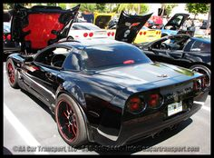 2002 Black Beauty. One of the most popular cars on the show. Gorgeous engine and amazing detailing. You can see more pics for this beauty on our blog. http://aacartransport.com/corvette-show-miami-fl/