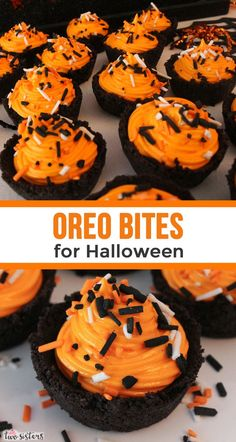 Our Oreo Cookie Cups with Marshmallow Cream are delicious mini treats that your family will love so much you will have to make them twice this Halloween! Halloween Desserts, Halloween Oreos, Creepy Halloween Food, Halloween Goodies, Halloween Food For Party, Spooky Spooky, Easy Halloween, Creepy Food, Family Halloween