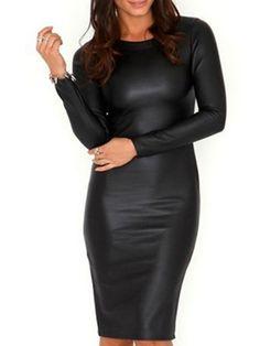 Charming Round Neck Dacron Bodycon-dress Bodycon Dress from fashionmia.com