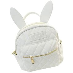 Pusheng Bunny Ears Backpack Wonderland Rabbit Pastel Cute Kawaii... (735 UYU) ❤ liked on Polyvore featuring bags, backpacks, backpack, knapsack bags, white backpack, rucksack bag, bunny backpack and day pack backpack