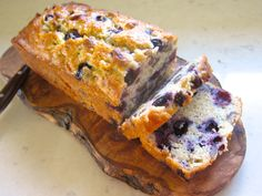 Blueberry bread with oatmeal and yogurt!
