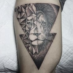 geometrictattoo lion geometric on Instagram