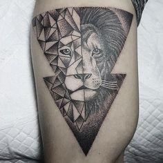 geometrictattoo lion geometric on Instagram