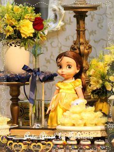 Bem Vindo!: Decoração A Bela e a Fera - Azul e Amarelo