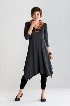 Travel Knit Simple Dress: F.H. Clothing Company: Knit Dress | Artful Home