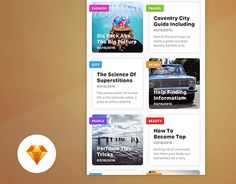 """Check out new work on my @Behance portfolio: """"News feed - Day75 My UI/UX Free SketchApp Challenge"""" http://be.net/gallery/35642985/News-feed-Day75-My-UIUX-Free-SketchApp-Challenge"""