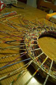 Calabash Bazaar: Wianek Big Basket, Newspaper Basket, Storage Boxes, Upcycle, Weaving, Zentangle, Mirrors, Baskets, Blog