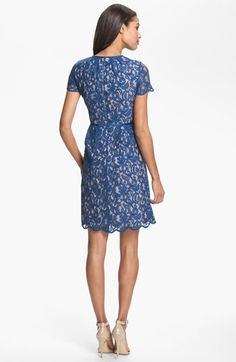 Adrianna Papell Scalloped Lace Dress   Nordstrom