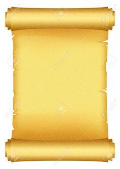 Vector illustration of scroll Gold Scroll Border Clip Art