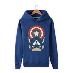 Captain America sweatshirt for men cheap college hoodies