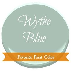 New blog series with great paint colors.  Postcards from the Ridge: Favorite Paint Color ~ Benjamin Moore Wythe Blue