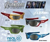 Special Edition THE AVENGERS Glasses to Be Offered at Participating Theaters. The Avengers personalized glasses for Iron Man, Hulk, and Thor. The Avengers, Avengers Movies, Avengers 2012, Die Rächer, Free Comic Books, 3d Glasses, New Clip, Marvel Fan, Cool Stuff