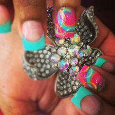 Colorful summer nails.......muy veraniegas!!