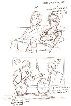 Johanna and Finnick during the 74th Hunger Games by alonglineofbread.tumblr.com I think