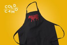 ANIMAL APRON 1 of 3 prints available on white, black or burgundy (heated)