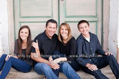 Family photography with older children