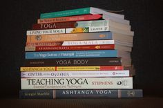 What's on my yoga bookshelf...