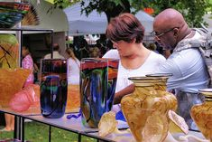 Asheville ART FEST with Craft Marketplace in Downtown Asheville is on July 1 & 2, 2017 with FREE admission.  There will be national and regional painters, potters, jewelers, glass blowers and more with their exquisite hand-made works of art.  Wander the lovely 6.5 acre Pack Square public park venue for this event held 10AM – 5 PM.  Come be inspired and bring home something you love! (Romantic Asheville photo)  www.artfestival.com