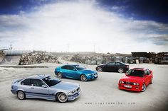 BMW ///M3 :: E36, E92, E46, E30. Have been trying to convince Joel we need one for years (I want the E46 but he wants the E36).