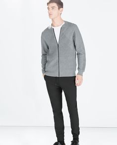 ZARA - MAN - KNITTED CARDIGAN WITH ZIP