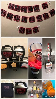 Stranger Things Birthday Party - Welcome Pikide Stranger Things Theme, Stranger Things Halloween, Stranger Things Season, 13th Birthday Parties, 11th Birthday, Birthday Party Themes, Birthday Ideas, Starnger Things, Custom Gift Bags