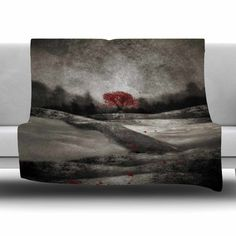 East Urban Home The Red Sounds And Poems 1 by Viviana Gonzalez Fleece Blanket Size: 80'' L x 60'' W