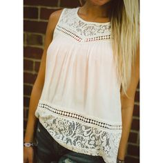 Split back sleeveless blouse.