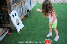 Halloween Game - Ghost Toss - Mess for Less