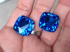 one pairs swiss blue topaz drilled top by vlvp on Etsy, $45.95