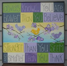 Personalized Baby Sign with Winnie the Pooh Quote on #Paintdshabby