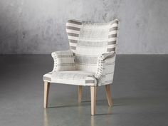 Marlin Chair | Arhaus Small Living Room Chairs, Living Room Furniture, Desk Styling, Wood Surface, Toss Pillows, Design Files, Cool Things To Make, Seat Cushions, Family Room