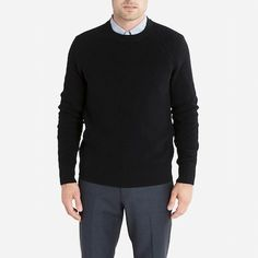 Everlane men's black sweater