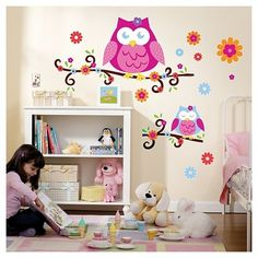 Owl Blossom Wall Decal : Target