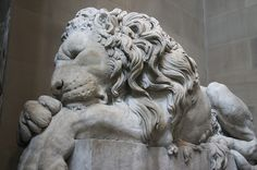 Chatsworth House - Lion Statue Sleeping by JeDi58, via Flickr