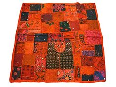 "Indian Wall Hanging Orange Vintage Sari Home Decor Tapestry Throw 40""x40"" Mogul Interior http://www.amazon.com/dp/B00L8WHS4K/ref=cm_sw_r_pi_dp_FN4Qtb0CH405M96S"
