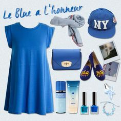 [Sharea Styling Tips] Le Blue a l'honner Items used:  Top: SHAREA A-line Sleeveless tops & Tshirts Blue  Bag: SHAREA 5 colors mini crossbody bags Blue Cap: SHAREA Cotton adult unisex New York flat cap  Scarf: SHAREA Scarves basic four color scarf Blue  Shoes: MODCLOTH Bam pow flat Bracelet: SHAREA butturfly pendant woman bracelet  More here: https://plus.google.com/b/106434001582353595177/106434001582353595177/posts/9ZAkEqGbTwE?pid=6054993877729573570&oid=106434001582353595177