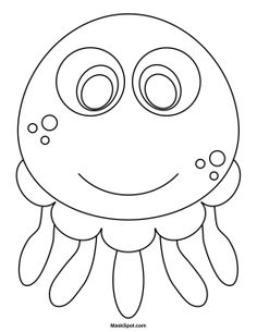 Dolphin mask templates including a coloring page version